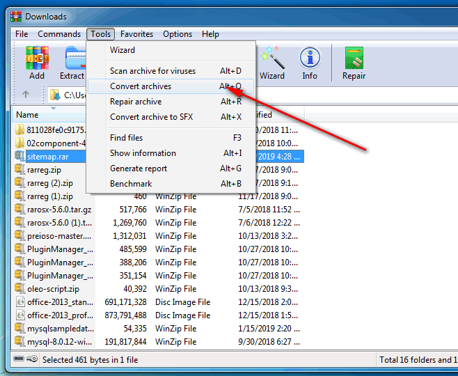 convert-RAR-to-ZIP-file-in-Winrar