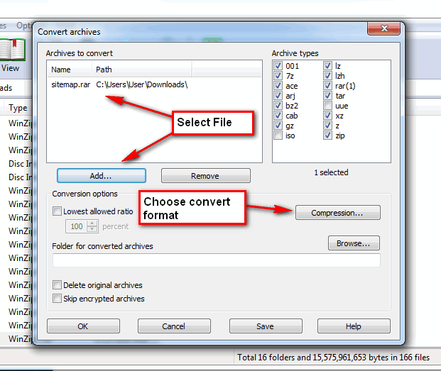 winrar zip archive to pdf converter
