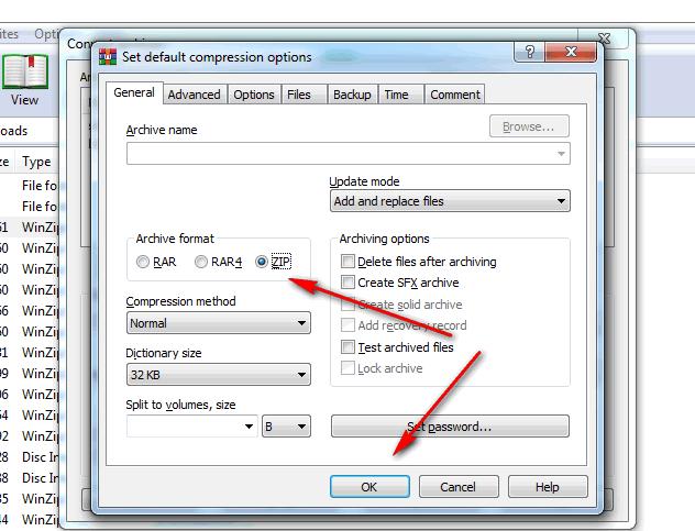 Convert RAR to ZIP file in Winrar - Winrarfree net