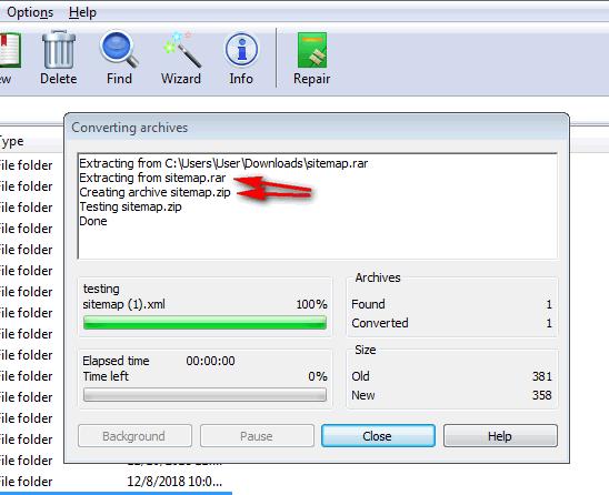 zip to rar file converter download